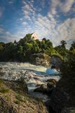 Rhine falls Rheinfalls the largest plain waterfall in Europe. royalty free stock photography