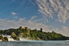 Rhine falls Rheinfalls the largest plain waterfall in Europe. royalty free stock images