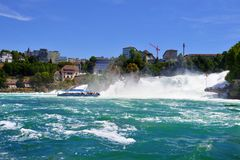 Rhine falls in Schaffhausen Royalty Free Stock Photos