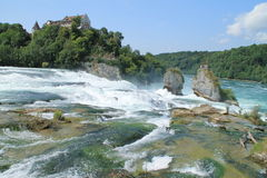 The rhine falls. In Schaffhausen Stock Image