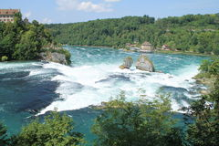 The rhine falls. In Schaffhausen Stock Photo