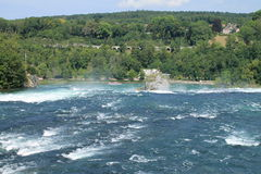 The rhine falls. In Schaffhausen Royalty Free Stock Photos