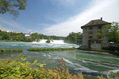 Rhine Falls in Schaffhausen royalty free stock images