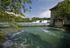 Rhine Falls in Schaffhausen Royalty Free Stock Photos