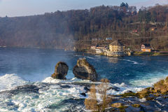 Rhine falls in Schaffhausen, Switzerland Stock Photo