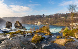 Rhine falls in Schaffhausen Royalty Free Stock Photography