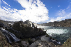 The Rhine Falls in Schaffhausen, Switzerland. Stock Photography