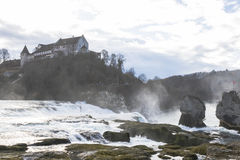 The Rhine Falls in Schaffhausen, Switzerland. Stock Photo