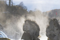 The Rhine Falls in Schaffhausen, Switzerland. Royalty Free Stock Images