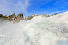 Rhine Falls in spring Royalty Free Stock Photo