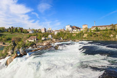 Rhine Falls in Spring Stock Photography