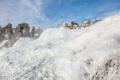 Rhine Falls in spring Stock Photo