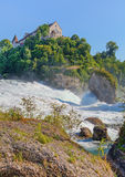 The Rhine Falls in summer, HDR Stock Photography