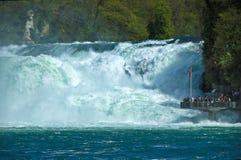 Rhine Falls, Switzerland. Particular of the majestic Rhine Falls, Schaffhausen - Switzerland stock photos