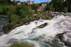 The Rhine Falls in Switzerland Stock Photography