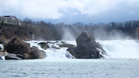 Rhine falls, Switzerland. The falls are located on the High Rhine on the border between the cantons of Schaffhausen (SH) and Zürich (ZH&#x29 royalty free stock photos