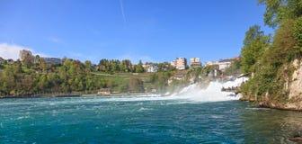 Rhine falls. Switzerland, Rhine falls in spring Stock Image