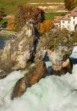 Rhine Falls vattenfall i Schweiz Royaltyfria Bilder