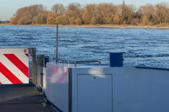 Rhine ferry at Dormagen Zons Royalty Free Stock Photo