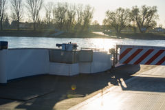 Rhine ferry at Dormagen Zons Royalty Free Stock Photos