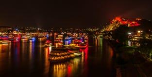 Rhine in Flames Stock Photo