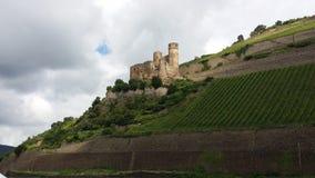 Rhine kasztel Obraz Royalty Free