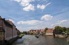 Rhine-Main-Danube Canal in Bamberg Royalty Free Stock Photography