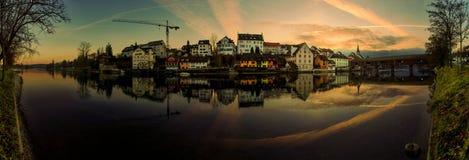 Rhine panorama zdjęcia royalty free