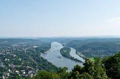 The Rhine panorama Stock Photography