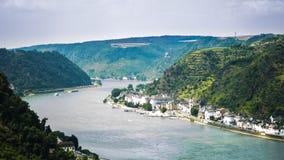 The Rhine past Lorelei Royalty Free Stock Photo