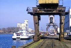 Rhine port av Kehl Arkivbilder