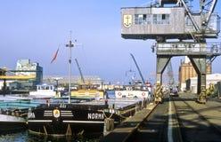 Rhine port av Kehl Royaltyfria Bilder