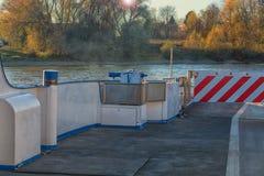 Rhine prom przy Dormagen Zons Obraz Royalty Free