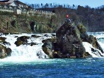 Rhine Rheinfall lub spadków siklawa, Neuhausen jest Rheinfall zdjęcie royalty free