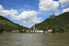 At the Rhine river Royalty Free Stock Images