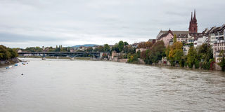 Rhine river in Basel, Switzerland Stock Image