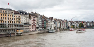 Rhine river in Basel, Switzerland Royalty Free Stock Photo