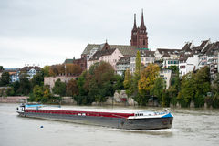 Rhine river in Basel, Switzerland Stock Images