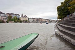 Rhine river in Basel, Switzerland Royalty Free Stock Photos