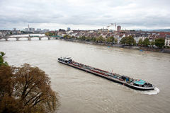 Rhine river in Basel, Switzerland Stock Photography