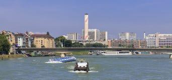 Rhine river in Basel Stock Photos