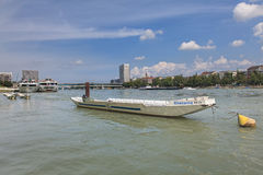 Rhine river in Basel Stock Images