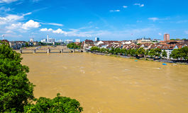 The Rhine river in Basel, Switzerland Stock Photo