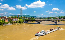 The Rhine river in Basel, Switzerland Stock Photos