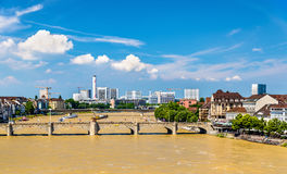 The Rhine river in Basel, Switzerland Stock Photography