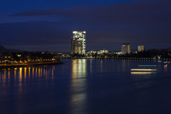 Rhine River in Bonn Stock Photos