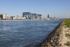 Rhine River in Cologne, Germany stock photos