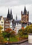 Rhine River Embankment in Cologne Stock Photos