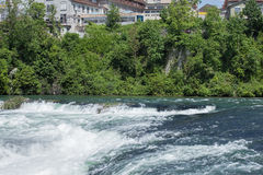 Rhine river just above the Rhine Falls Royalty Free Stock Image