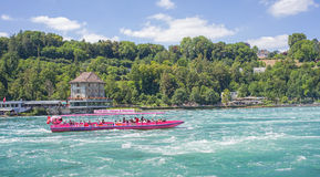 Rhine river just below the Rhine Falls Royalty Free Stock Photo